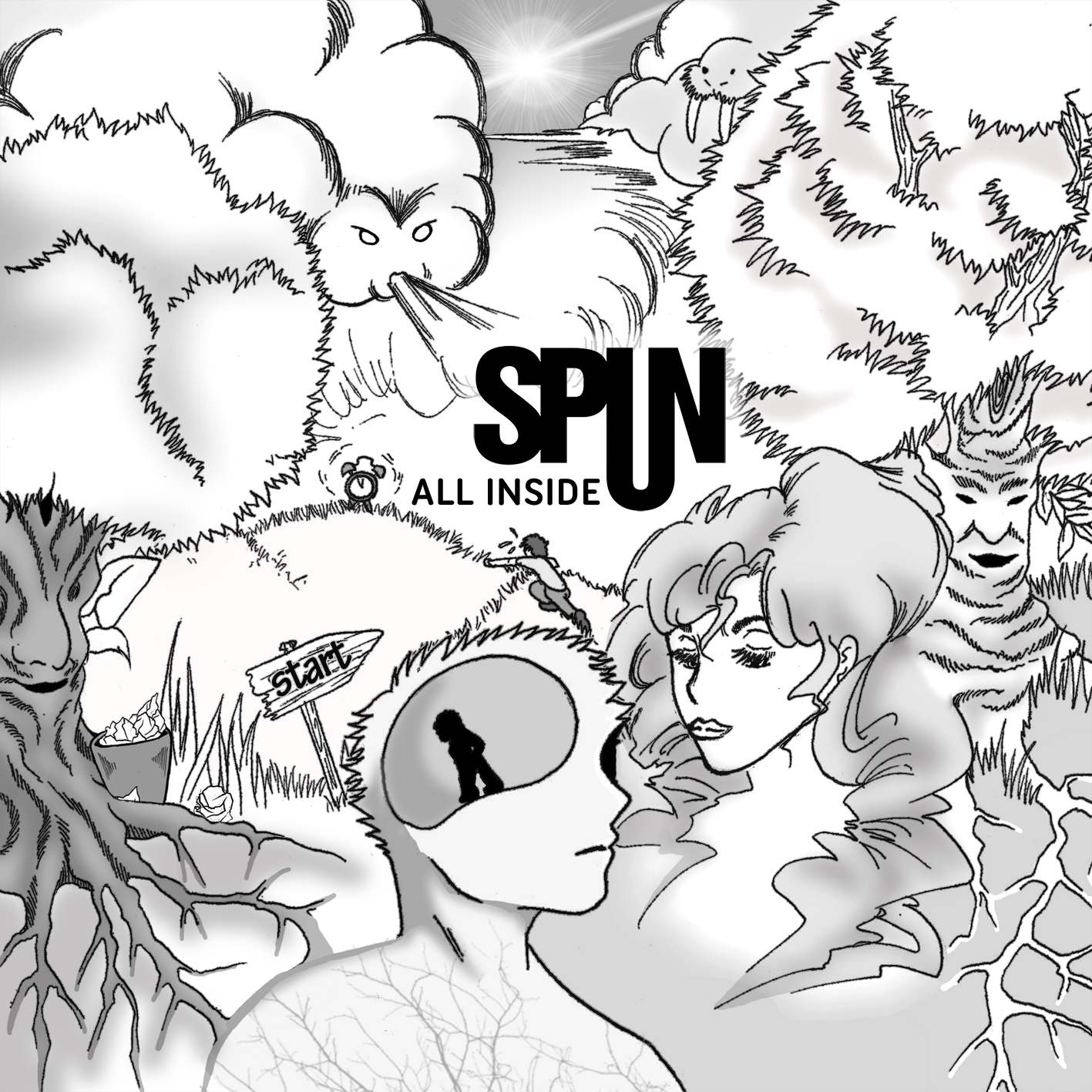 "Album-Cover ""All Inside"" von SPUN, Artwork by: ich"